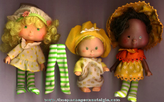 (3) ©1979 - 1981 Strawberry Shortcake Character Dolls