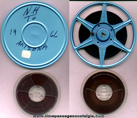 Original 1966 8mm Color Film Of A New Hampshire To Arizona Road Trip With (2) Narrated Audio Tapes