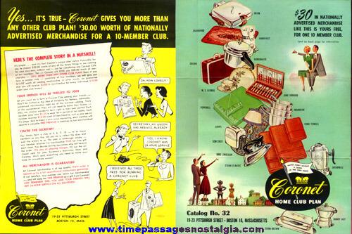 (3) 1950's Coronet Home Club Paper Items