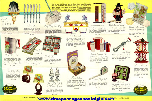 (3) 1950's Coronet Home Club Paper Items