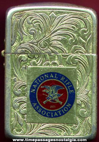 Old (NRA) National Rifle Association Advertising Cigarette Lighter