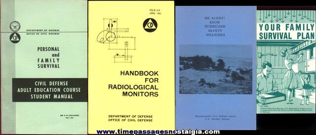 (10) Old Civil Defense Books / Booklets