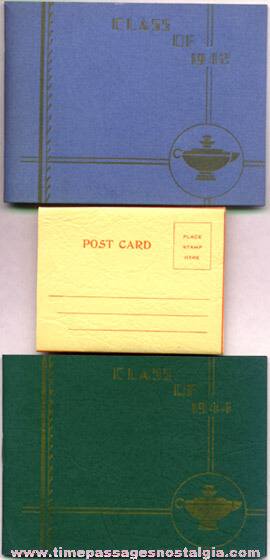 (2) 1940's School Photo Booklets And A Photo Post Card