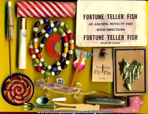 (16) Old Cracker Jack Premium / Prize Toys