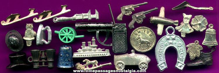 (25) Old Metal Cracker Jack Premium / Prize Toys