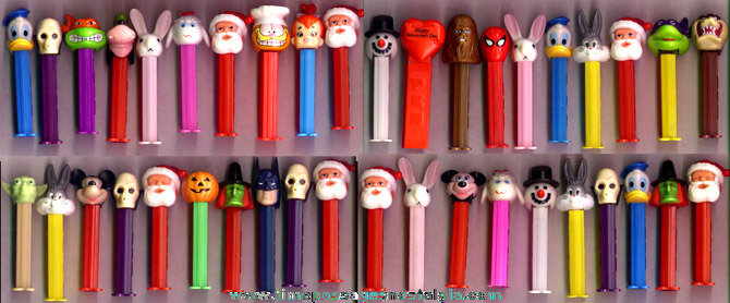 (40) PEZ Character Candy Dispensers