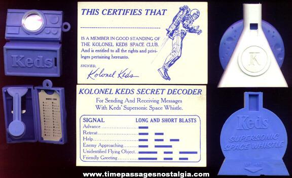 (3) 1960's Keds Shoes Premium Items