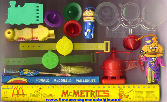 (14) Older McDonalds Restaurant Happy Meal Toys & Toy Prizes