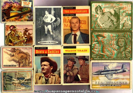 (37) Mixed Old Non-Sports Trading Cards