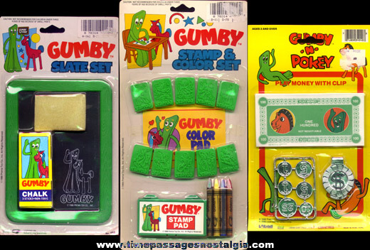 (12) Gumby & Pokey Items