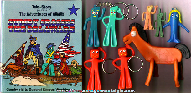 (12) Gumby & Pokey Claymation Character Items