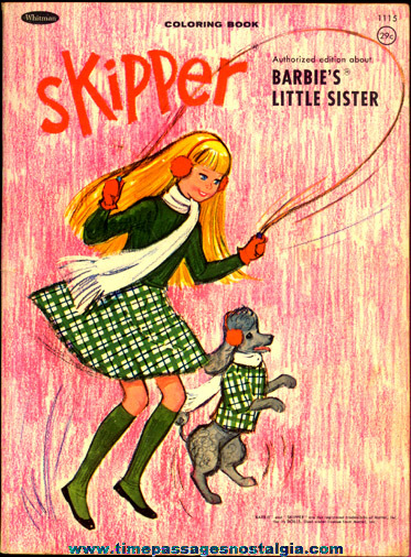 ©1965 Skipper (Barbie's Little Sister) Whitman Coloring Book