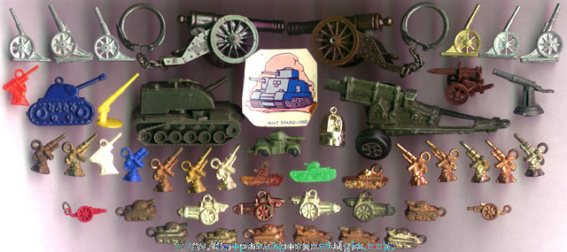 (47) Old Miniature & Charm Cannons And Tanks