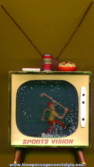 Enesco Sports Television Golf Snow Globe