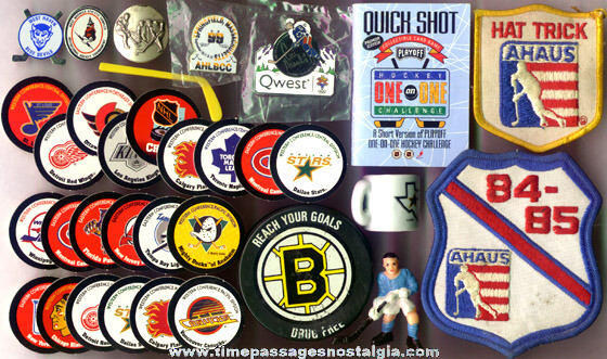 (33) Small Hockey Related Items