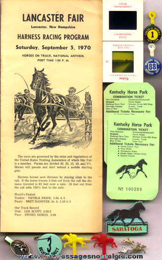 (29) Small Horse Racing Related Items