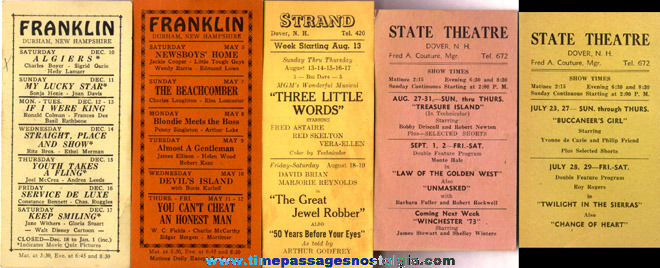(6) Old New Hampshire Theatre Schedules