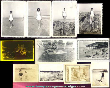 (28) Old Beach And Swimming Black & White Photographs
