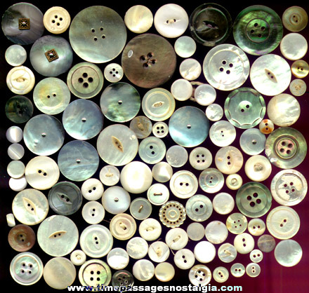 (104) Carved and Machined Shell Clothing Buttons