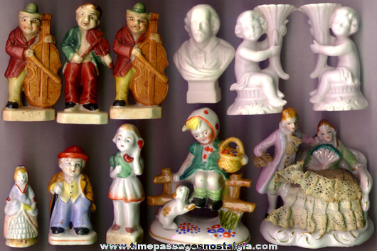 (11) Small Old Porcelain Figurines