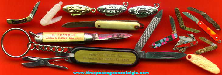 (15) Miniature, Charm, And Pin Pocket Knives