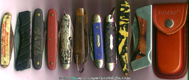 (10) Different Pocket Knives