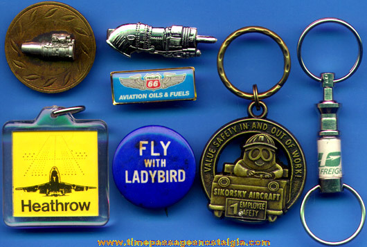 (7) Small Old Airplane Related Items