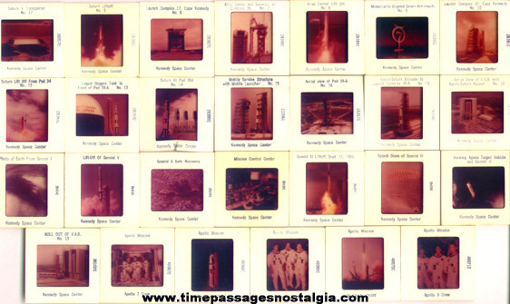 (27) Old Kennedy Space Center Color Photograph Slides