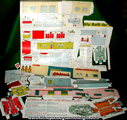Old Paper Cut Out Toys