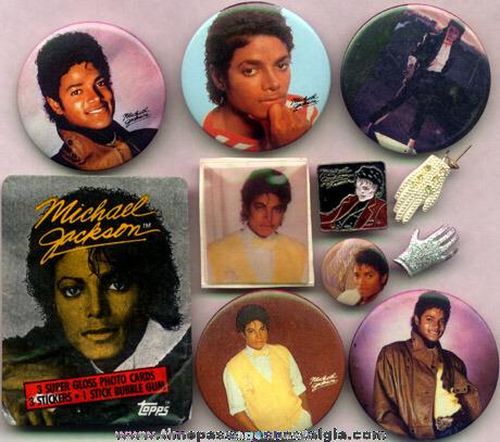 (11) Small Michael Jackson Items