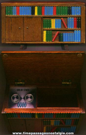Old Wooden Bookshelf Ross Transistor Radio