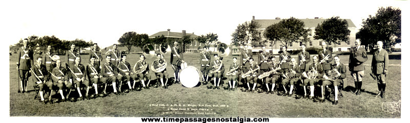 Large 1936 Military Band Photograph