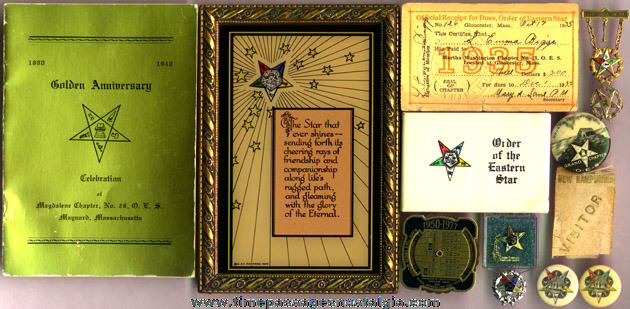 (12) Small Old Eastern Star Fraternal Items
