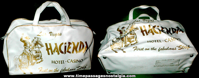 Old Hacienda Hotel - Casino Vinyl Advertising Travel Bag