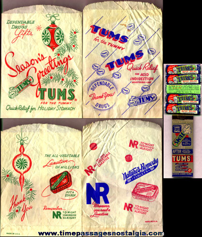 (8) Old TUMS Advertising Items
