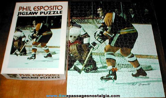 ©1971 Phil Esposito Boston Bruins Hockey Jig Saw Puzzle