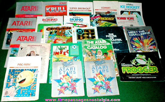 (22) Old Video Game Booklets