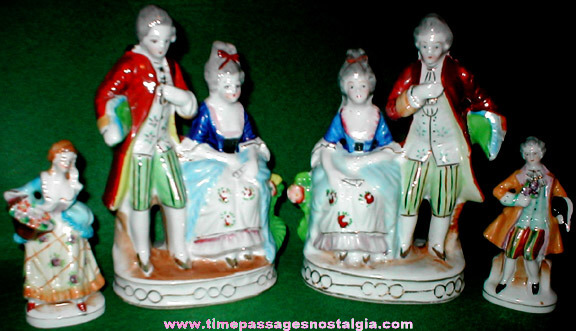 (4) Old Victorian Japanese Porcelain Figurines