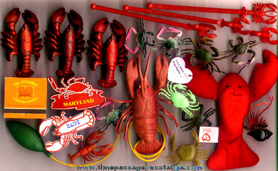(22) Small Lobster & Crab Related Items