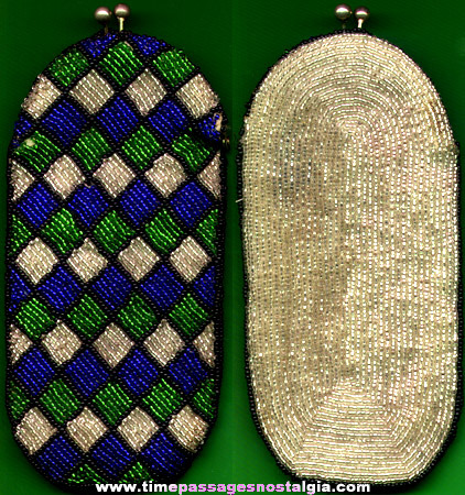 Old Colorful Beaded Purse