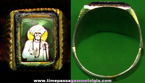 Interesting Old Enameled Ring