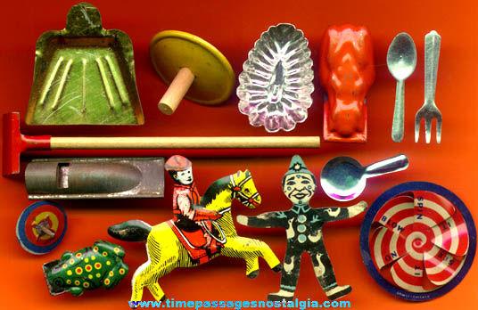 (14) Different Cracker Jack Prize / Premium Tin Toys