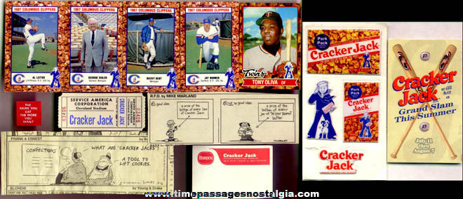 (15) Different Cracker Jack Related Paper items