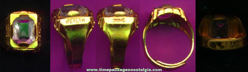 Rare 1935 Radio Orphan Annie Or Ovaltine Birthday Premium Toy Ring