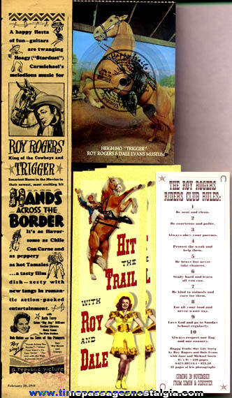(7) Roy Rogers Paper Items