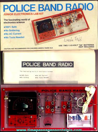 Old Boxed Police Band Radio Electronics Kit