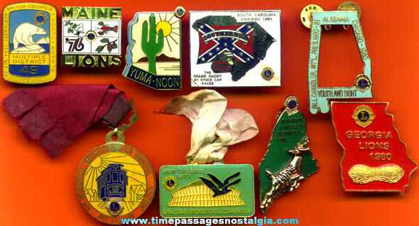 (9) Different Small Lions Club Items