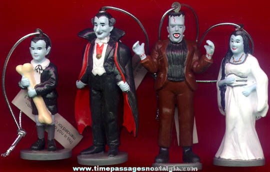 Set Of (4) Munsters Family Character Figure / Ornaments