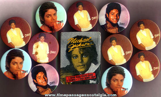 (12) Small Old Michael Jackson Items