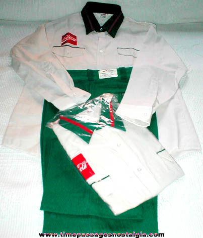 (3) Old Unused Coca-Cola Employee Uniform Items